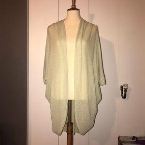 4/$20 Light, bat wing, open oversized sweater